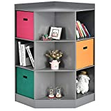 Costzon 9-Cubby Kids Bookcase with Extra...