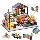 Spilay DIY Dollhouse Miniature with Wooden...