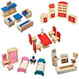 Giragaer 5 Set Colorful Wooden Doll House...