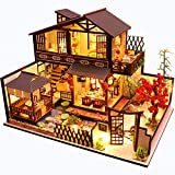CUTEBEE Dollhouse Miniature with Furniture,...